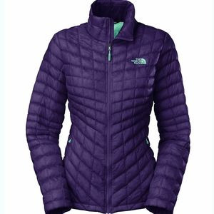 North face purple mint thermoball puffer jacket